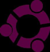 Logo Ubuntu ini dibuat ketika  latihan terhadap perpotongan gambar