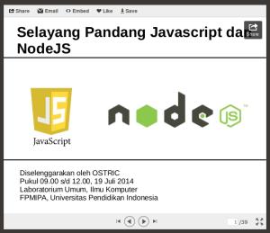 Selayang Pandang Javascript dan NodeJS