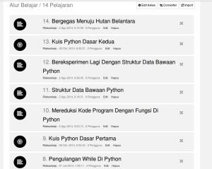 Daftar Materi di Kelas Pemrograman Python Dasar 1 - di KelasKita