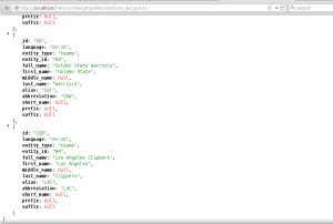 Contoh output JSON yang digunakan untuk benchmark beberapa kombinasi web framework dan web server